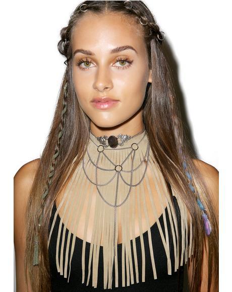 Desert Palms Fringe Necklace