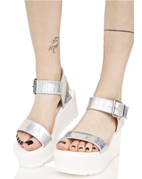 Hologram Sidney Platform Sandals