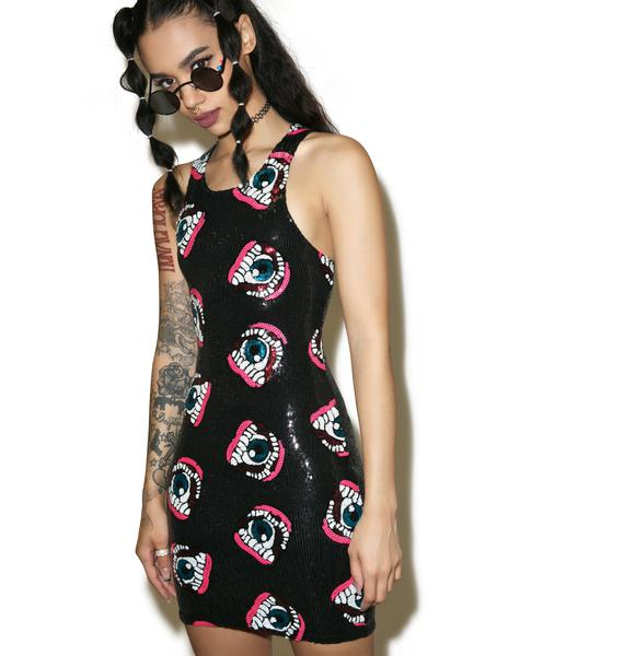 Iron Fist Eye'll Eat You Sequin Dress