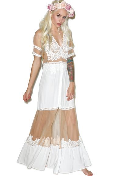 Ivory Carmine Maxi Dress