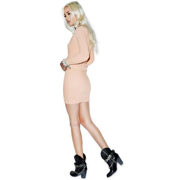 For Love & Lemons Camilla Knit Skirt