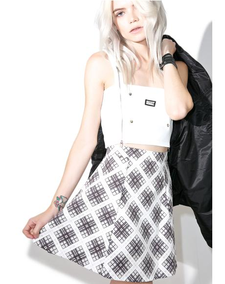 Kate Check Zeca A-Line Skirt