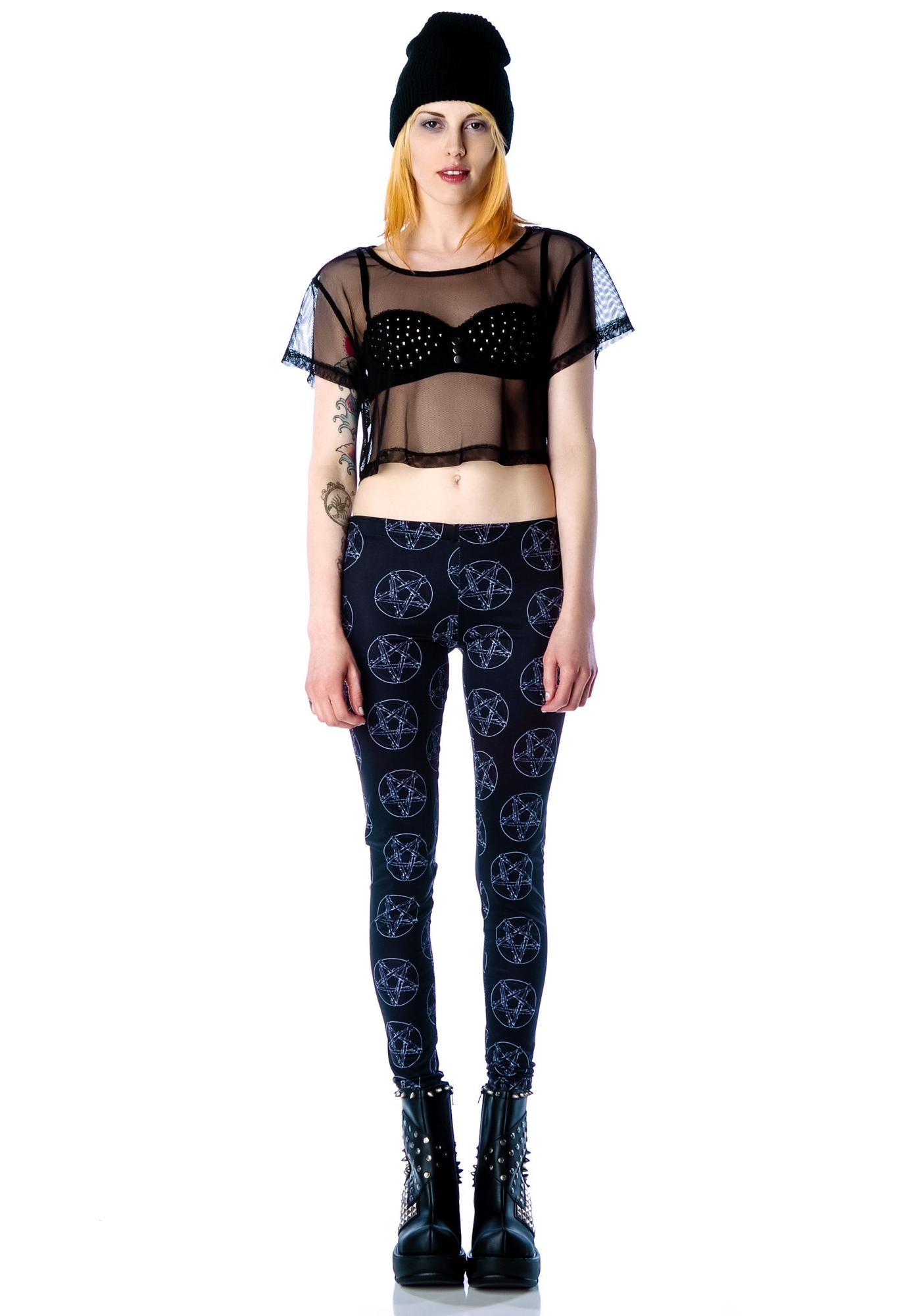 Lip Service Netting Crop Top