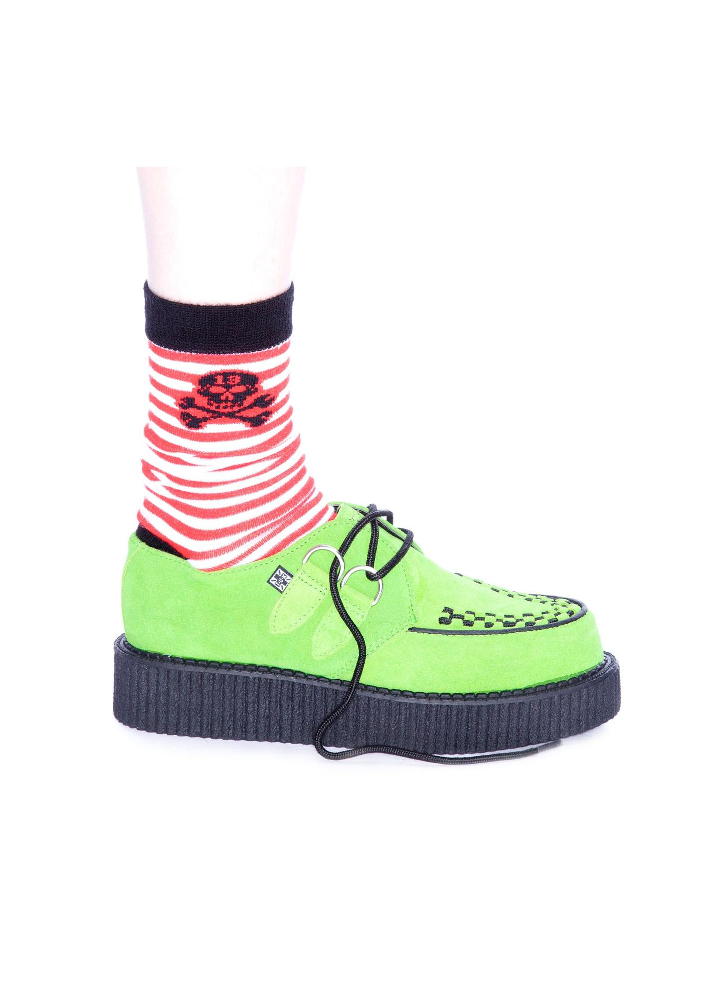 T.U.K. Neon Green Mondo Creeper
