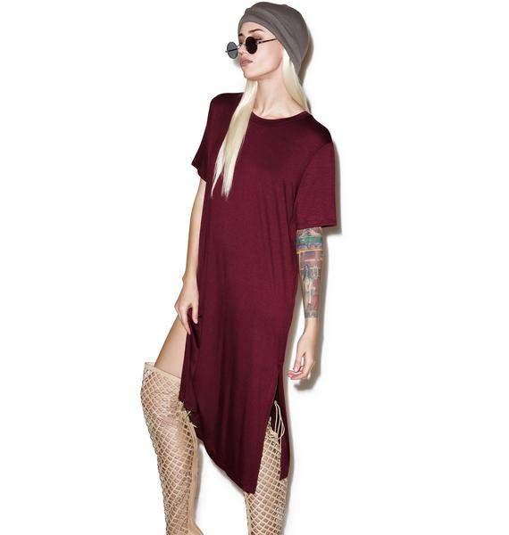 Plum Pout Midi Tee Dress