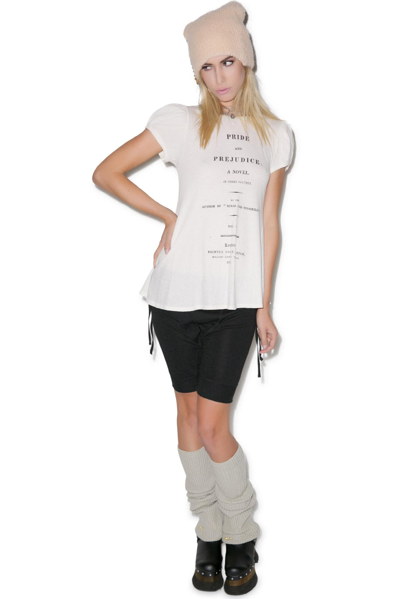 Wildfox couture cover page austen lace up tee dolls kill for Canopy couture