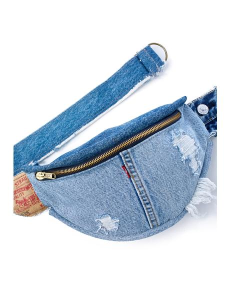 Repurposed Denim Fanny Pack