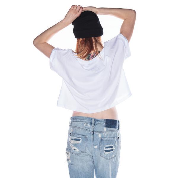 Civil Clothing Disbelief Bones Crop Tee