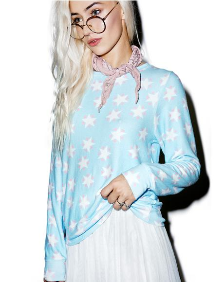 Stars And Hearts Baggy Beach Jumper