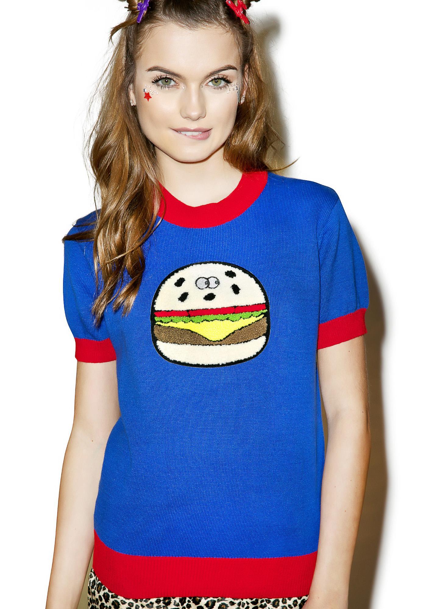 Lazy Oaf Burger Knit Top