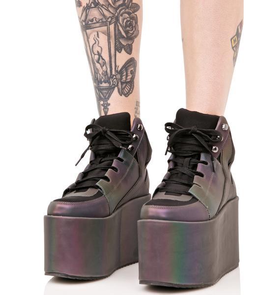 Y.R.U. Qozmo Hi Reflective Sneakers