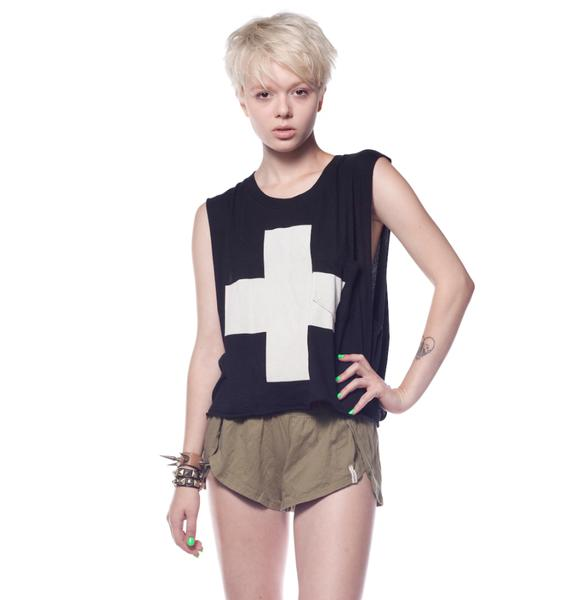 Wildfox Couture Lifeguard Charlie Crop Tank