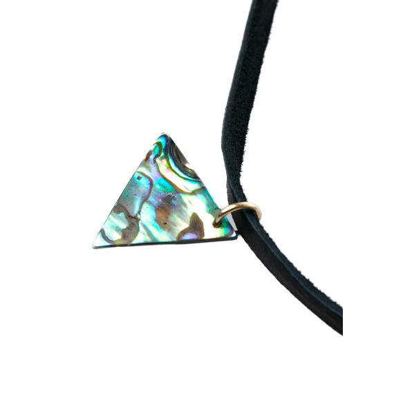 Fraiser Sterling Mother Of Pearl Bolo Necklace