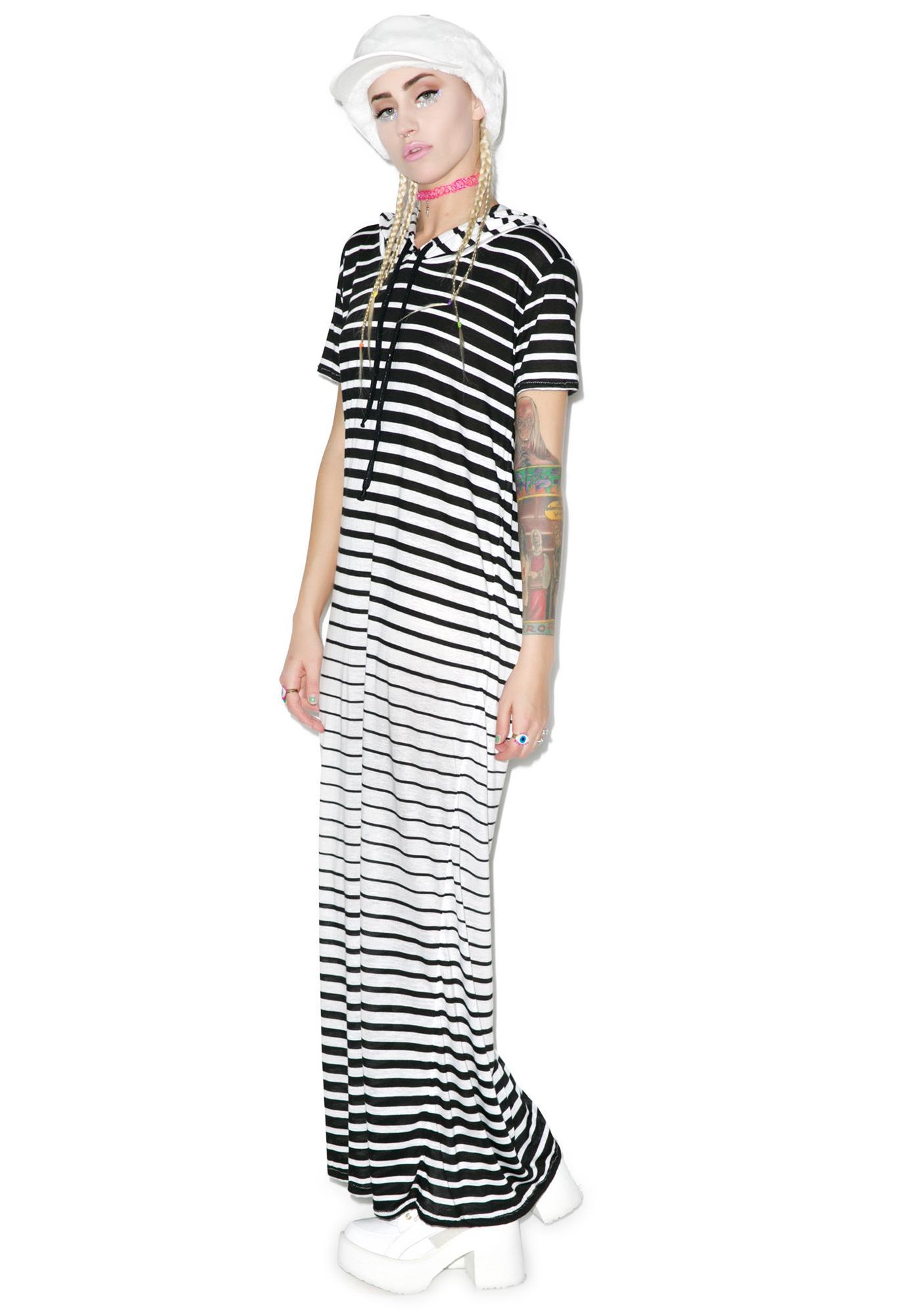 Mamadoux Preppy Goth Hoodie Dress
