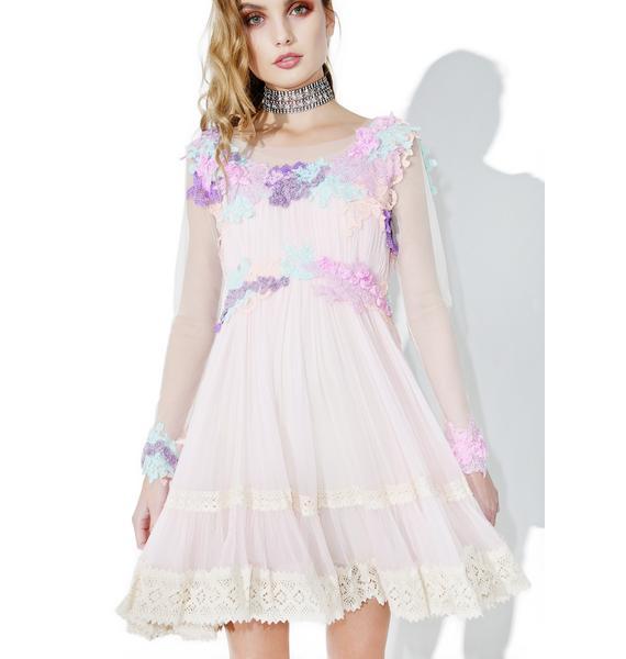 Dolly Bae Lilac Dew Drop Floral Dress