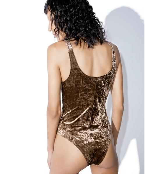 Mocha Dreamz Velvet Bodysuit