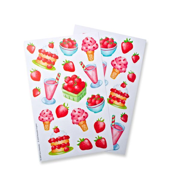 Strawberry Scratch-and-Sniff Stickers