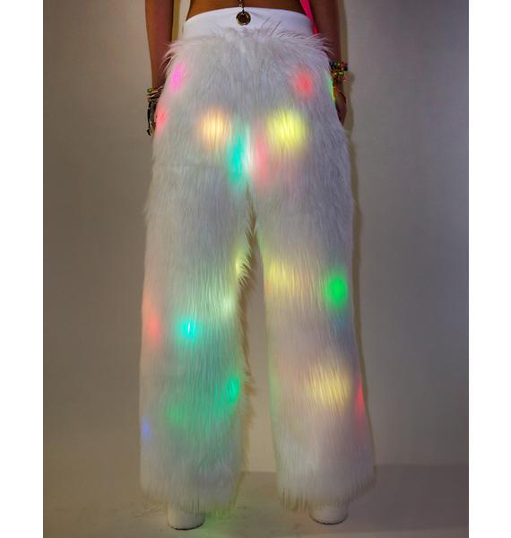 J Valentine Flashing Lights Suspender Pants