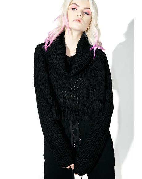Midnight Lazy Daze Cowl Neck Sweater