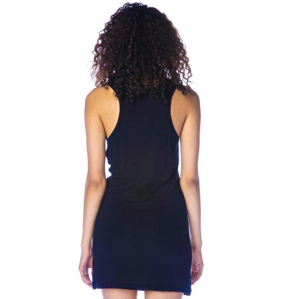 Iron Fist Wishbone Sequined Dress