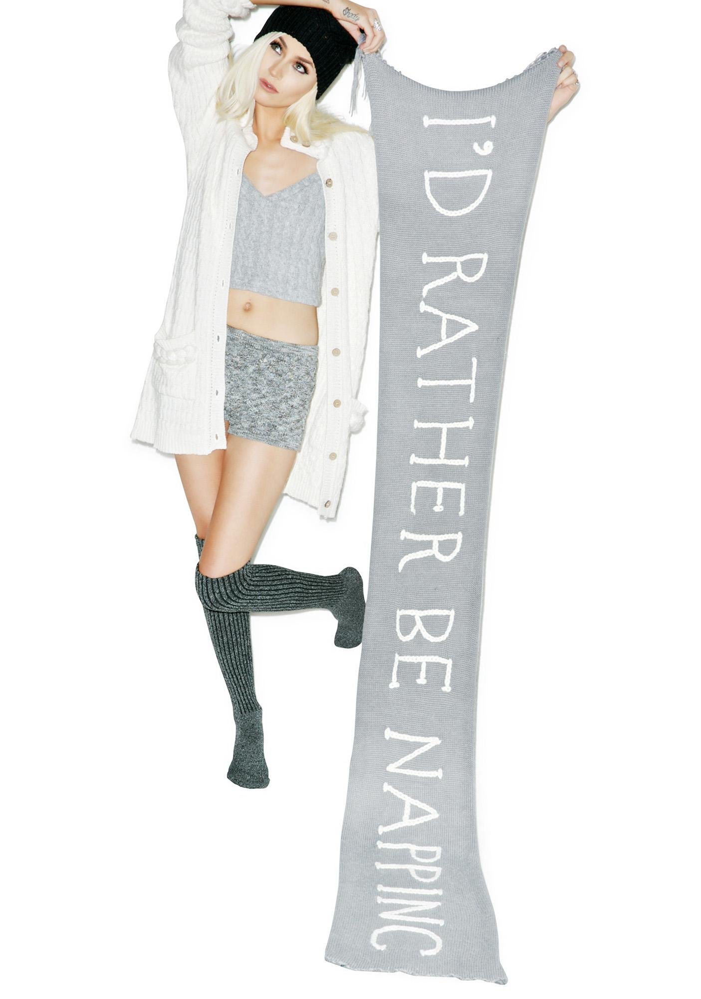 Wildfox Couture Naptime Chainlink Scarf