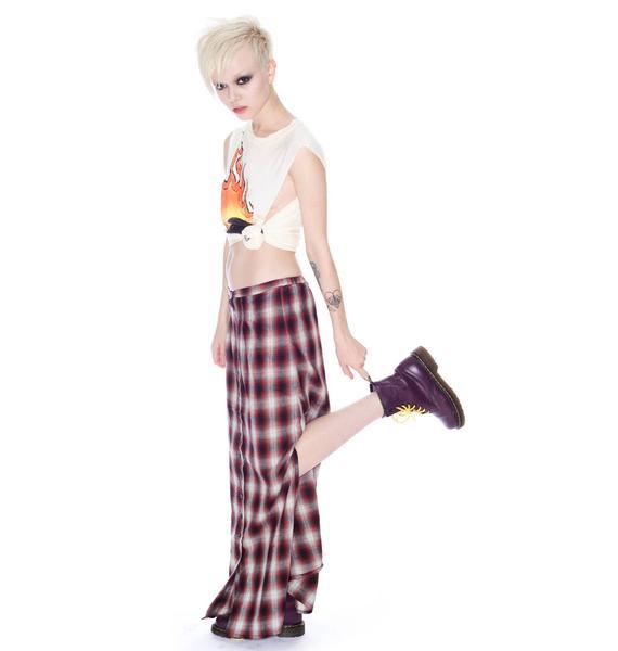 UNIF Nevermind Plaid Skirt
