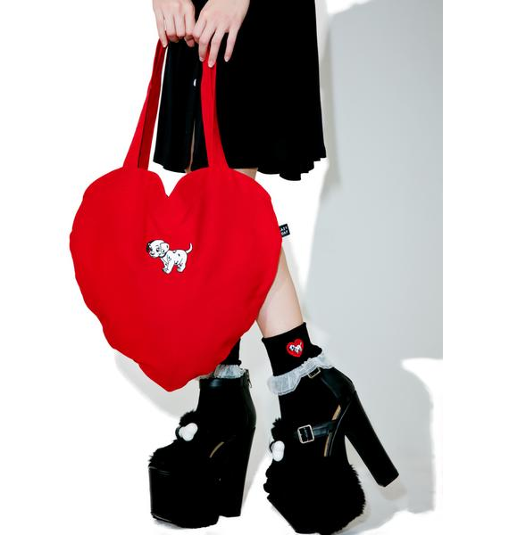 Lazy Oaf X Disney 101 Dalmatians Heart Bag