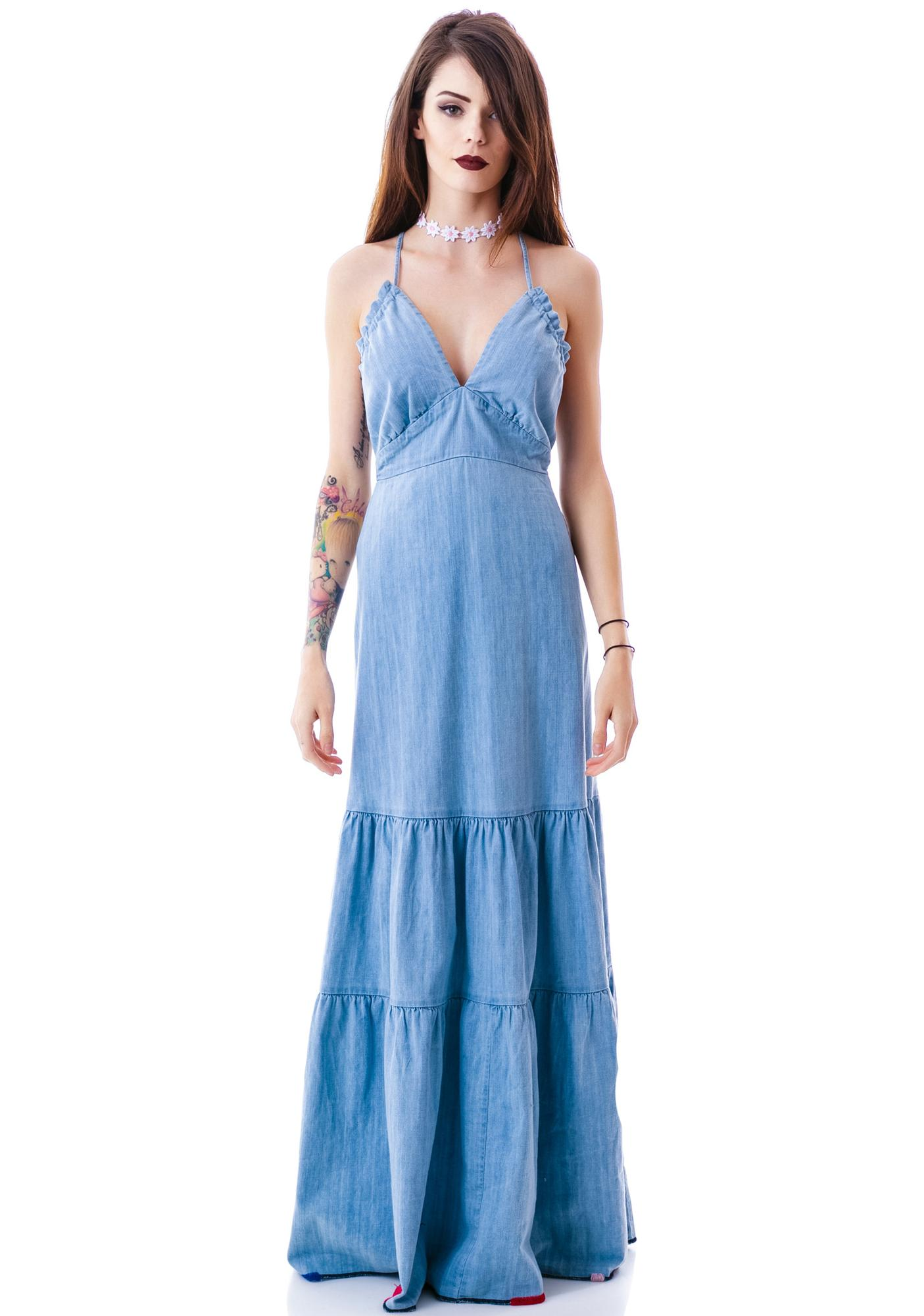 Wildfox Couture Mirabelle Dazed Denim Dress
