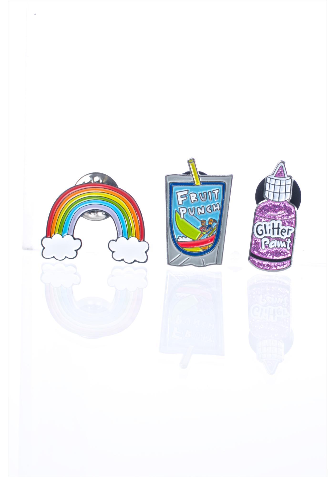 Laser Kitten Afterschool Enamel Pin Set
