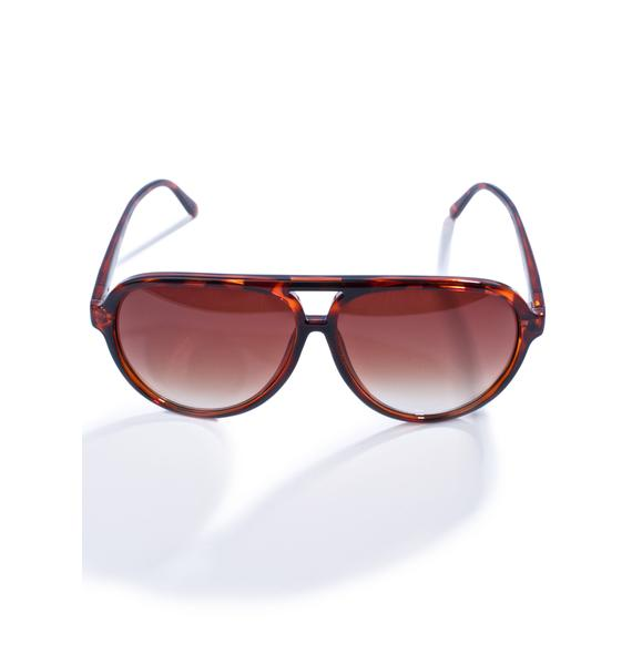Crap Eyewear The Tortoise Nite Shift Sunglasses