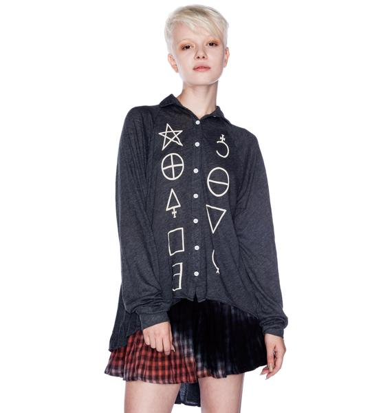 Wildfox Couture Star Signs Sunday Button Down Shirt