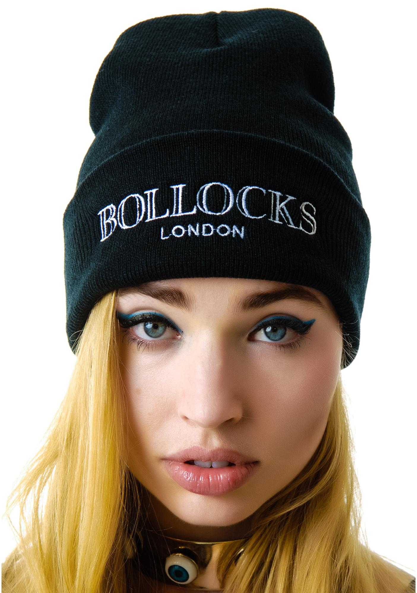Petals and Peacocks Bollocks Beanie