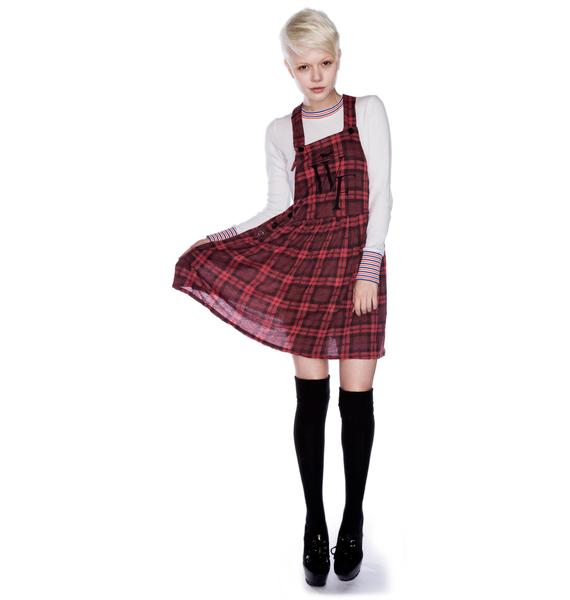 Wildfox Couture Reality Bites Pinafore Dress