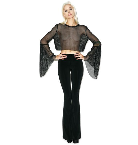 The Ragged Priest Juno Crop in Black