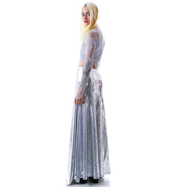Wildfox Couture The Cecilia Maxi Sequin Skirt