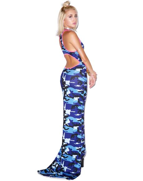 Camo Girl Maxi Dress