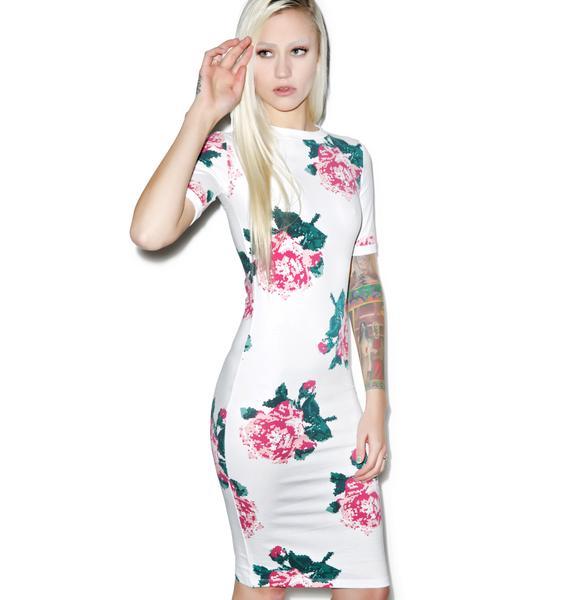 Joyrich 8Bit Floral Bodycon Dress