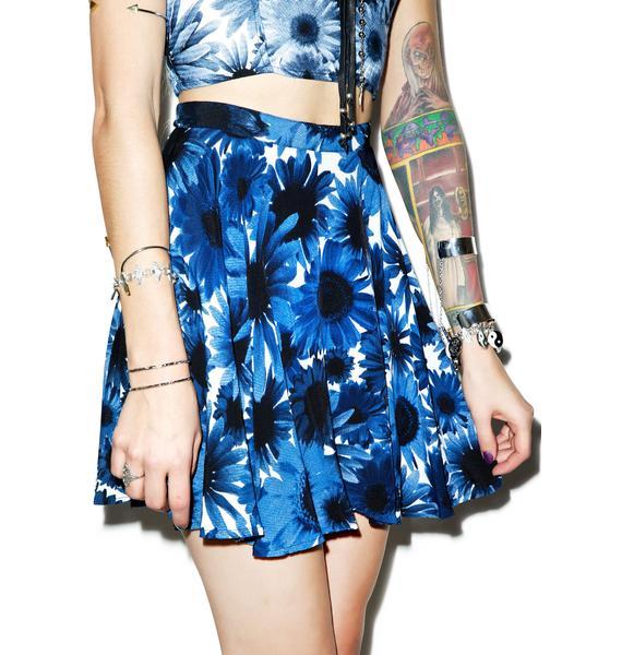 Motel X-Ray Floral Simone Skater Skirt