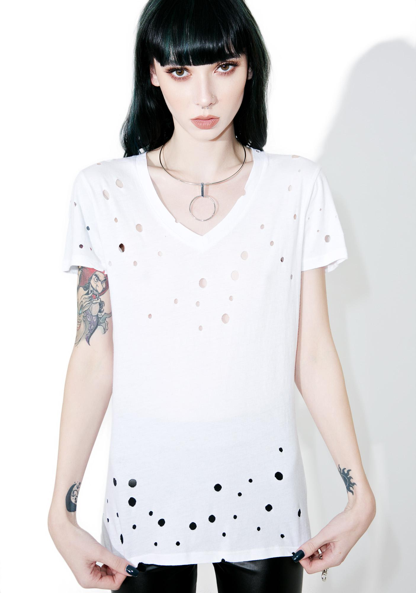 Tripp NYC Holey V-Neck Tee