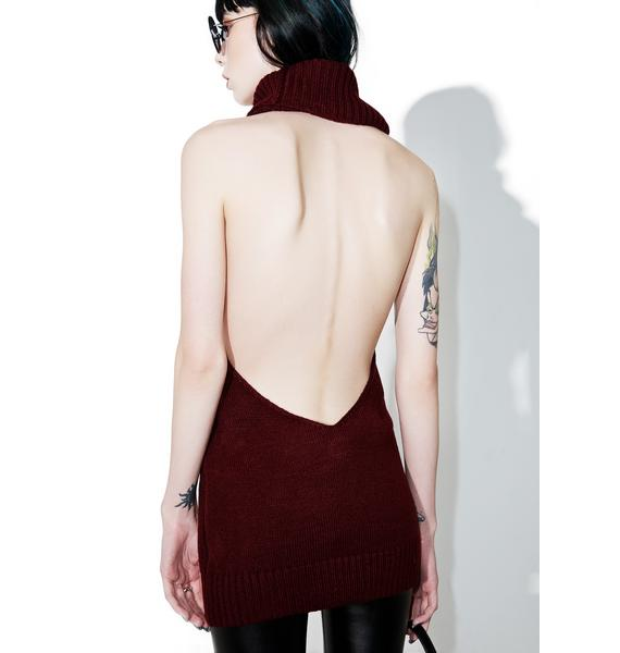 Cabernet Sleeveless Turtleneck
