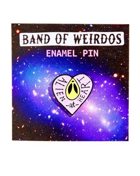 Alien At Heart Enamel Pin