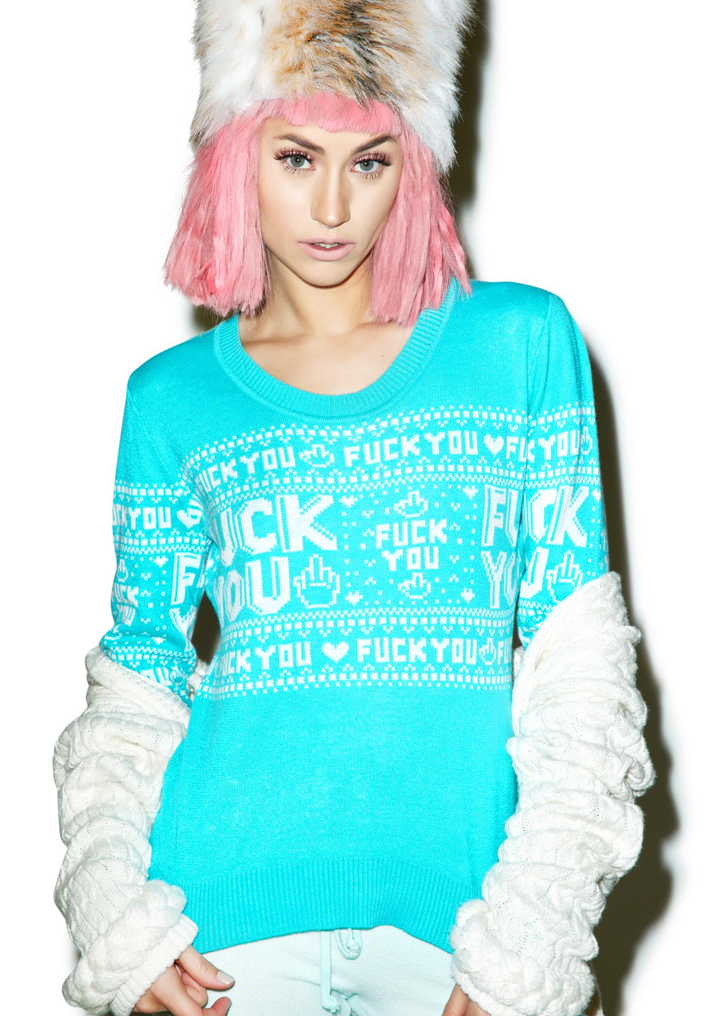 Sourpuss Clothing F You Sweater