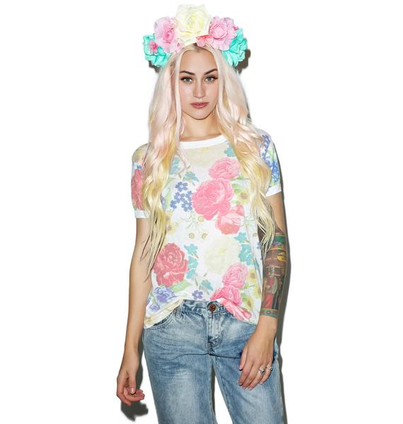 Wildfox Couture Summer Bouquet Vintage Ringer Tee