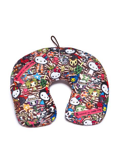 Tokidoki X Hello Kitty Summer Safari Travel Pillow