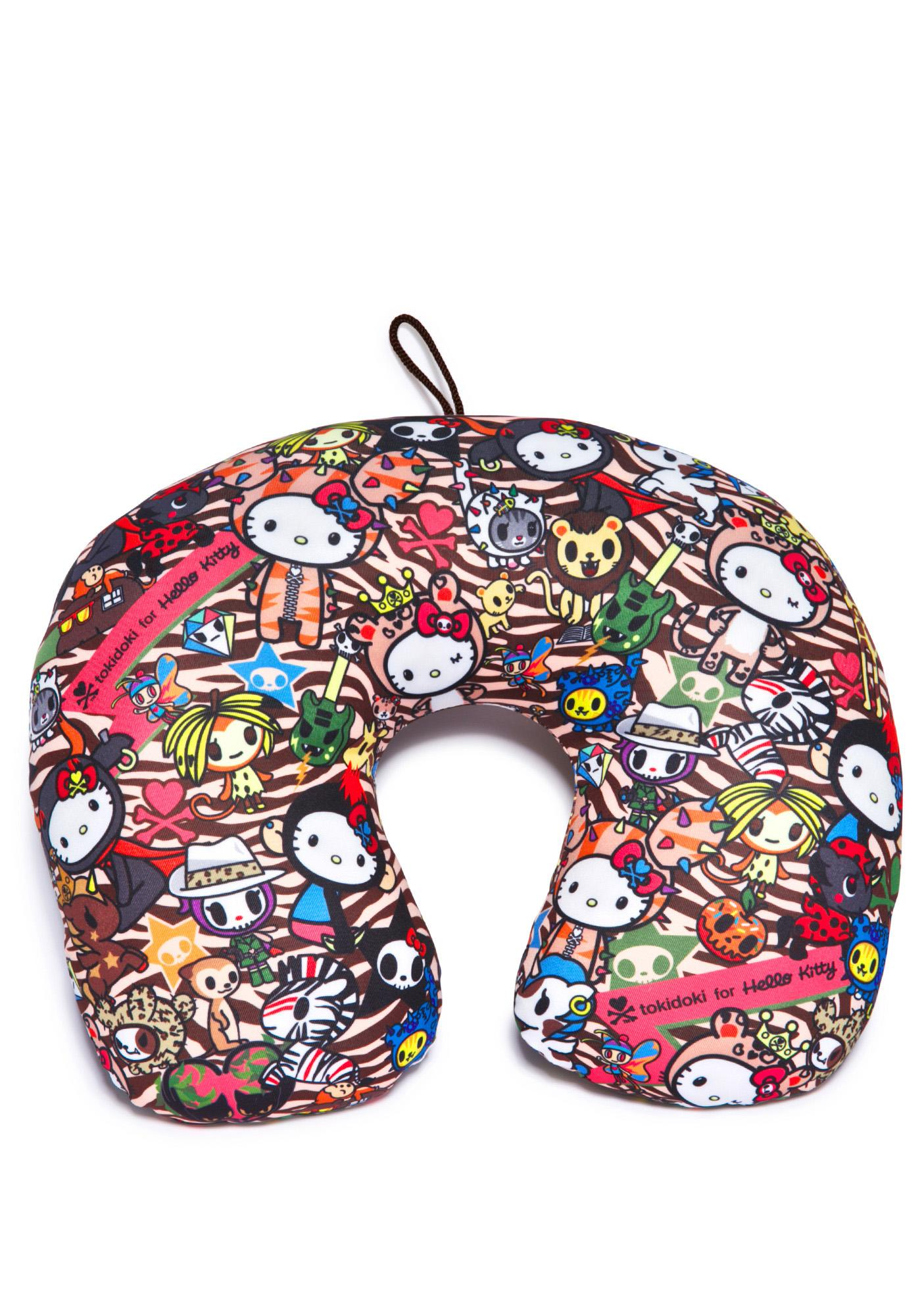 Sanrio Tokidoki X Hello Kitty Summer Safari Travel Pillow