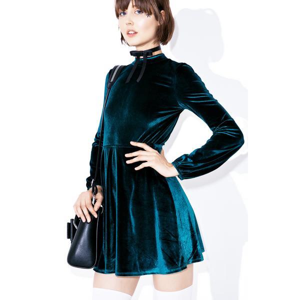 Rich Bitch Velvet Dress