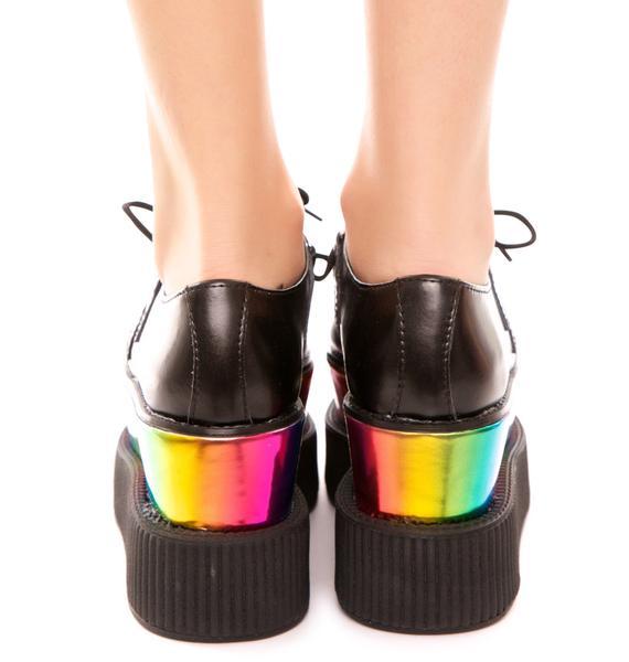 T.U.K. Double Stacked Rainbow Viva Mondo Creeper
