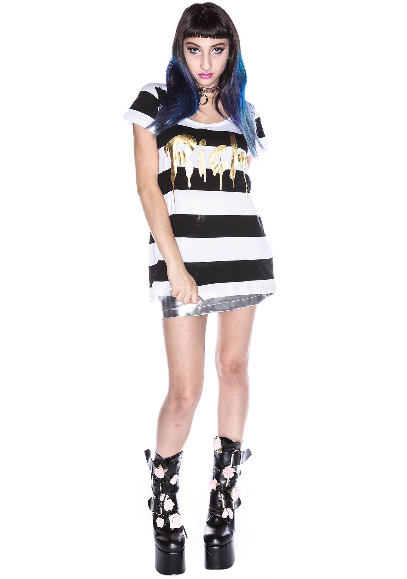 Joyrich Gold Rich Dripped Stripe Tee