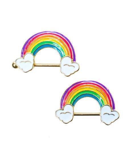 Rainbow Dreamz Nipple Ring Pack