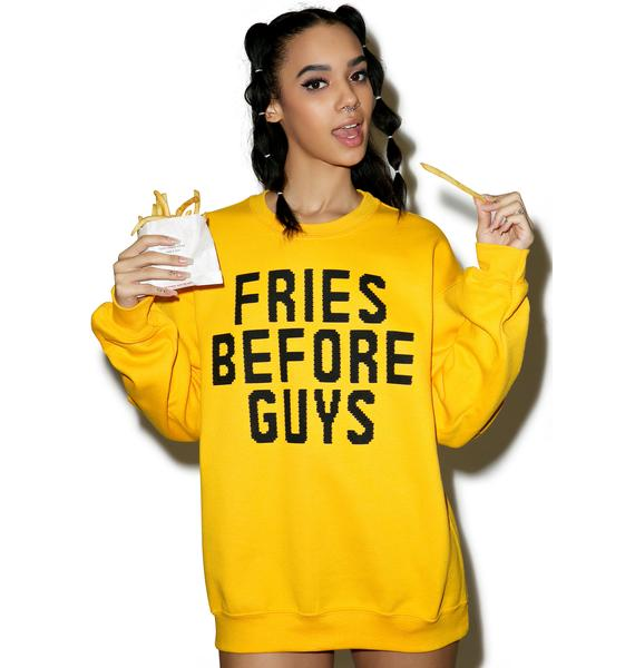 Burger And Friends Fries Before Guys Sweatshirt